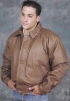 MJ704 Men's Brown Bomber Jacket